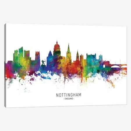 Nottingham England Skyline Canvas Print #MTO2101} by Michael Tompsett Art Print