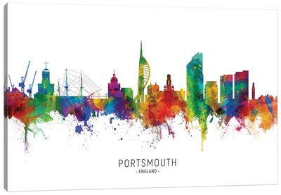 Portsmouth England Skyline Canvas Art Print