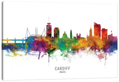Cardiff Wales Skyline Canvas Art Print