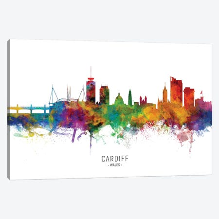 Cardiff Wales Skyline Canvas Print #MTO2104} by Michael Tompsett Canvas Art