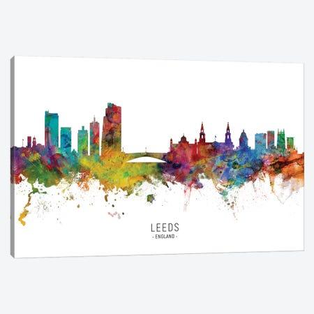 Leeds England Skyline Named Canvas Print #MTO2105} by Michael Tompsett Canvas Art