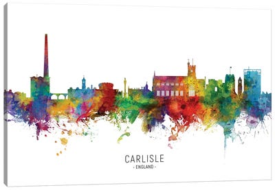 Carlisle England Skyline Canvas Art Print