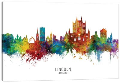 Lincoln England Skyline Canvas Art Print