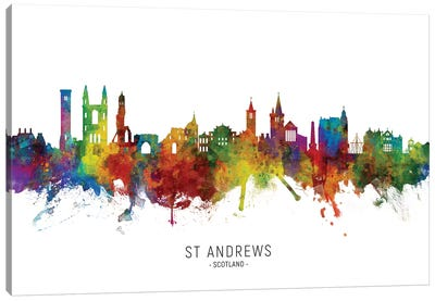 St Andrews Scotland Skyline Canvas Art Print