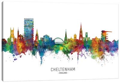Cheltenham England Skyline Canvas Art Print