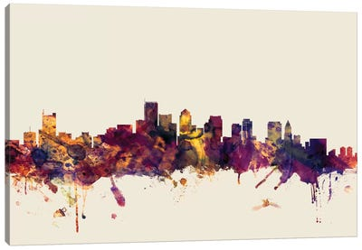 Boston, Massachusetts, USA I On Beige Canvas Art Print