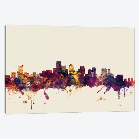 Boston, Massachusetts, USA I On Beige Canvas Print #MTO210} by Michael Tompsett Canvas Artwork