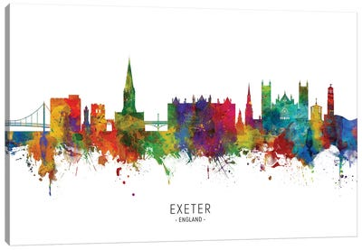 Exeter England Skyline Canvas Art Print