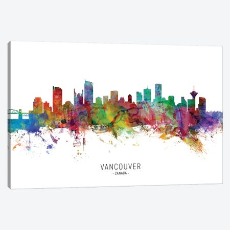 Vancouver Canada Skyline Canvas Print #MTO2113} by Michael Tompsett Canvas Wall Art