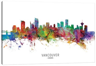 Vancouver Canada Skyline Canvas Art Print