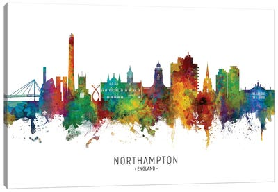 Northampton England Skyline Canvas Art Print