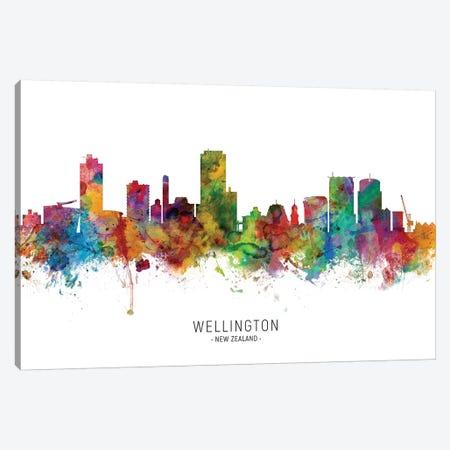 Wellington New Zealand Skyline Canvas Print #MTO2116} by Michael Tompsett Canvas Art Print