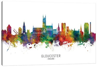 Gloucester England Skyline Canvas Art Print