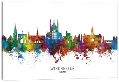 Winchester England Skyline Canvas Art Print