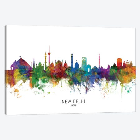 New Delhi India Skyline Canvas Print #MTO2119} by Michael Tompsett Canvas Artwork