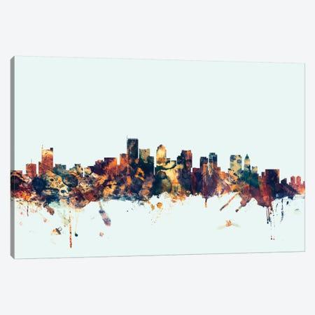 Boston, Massachusetts, USA I On Blue Canvas Print #MTO211} by Michael Tompsett Canvas Wall Art