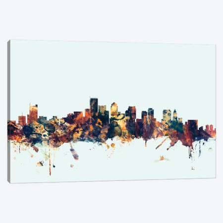 Boston, Massachusetts, USA I On Blue Canvas Print #MTO211} by Michael Tompsett Canvas Wall Art