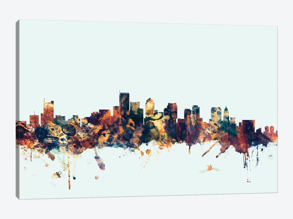 Boston, Massachusetts, USA I On Blue by Michael Tompsett 1-piece Canvas Artwork