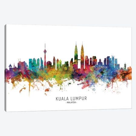 Kuala Lumpur Malaysia Skyline Canvas Print #MTO2121} by Michael Tompsett Canvas Art Print