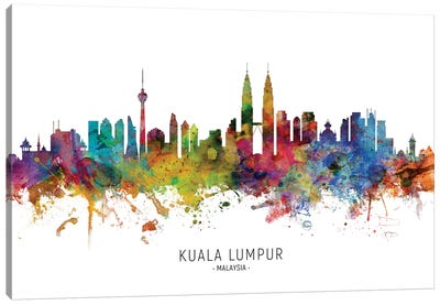 Kuala Lumpur Malaysia Skyline Canvas Art Print