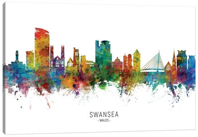 Swansea Wales Skyline Canvas Art Print