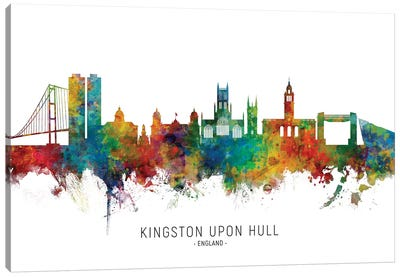 Kingston Upon Hull Skyline Canvas Art Print
