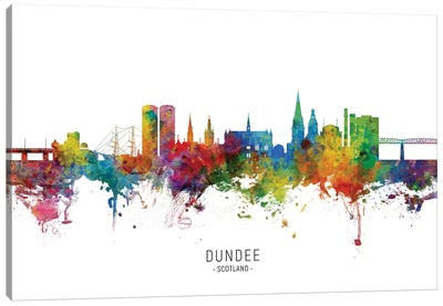 Dundee Scotland Skyline Canvas Art Print
