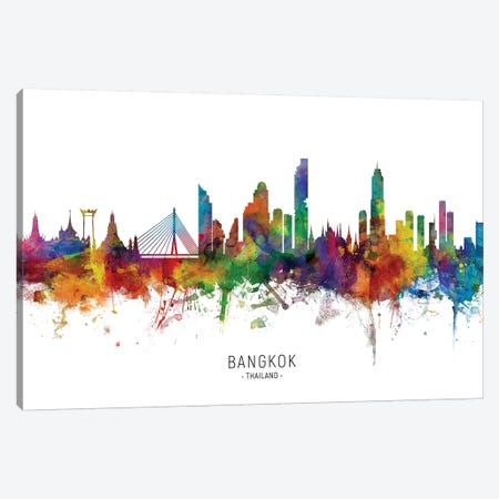 Bangkok Thailand Skyline Canvas Print #MTO2128} by Michael Tompsett Canvas Print