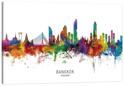 Bangkok Thailand Skyline Canvas Art Print