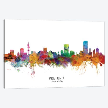 Pretoria South Africa Skyline Canvas Print #MTO2129} by Michael Tompsett Canvas Print