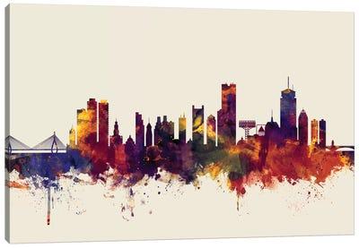 Skyline Series: Boston, Massachusetts, USA II On Beige Canvas Print #MTO212