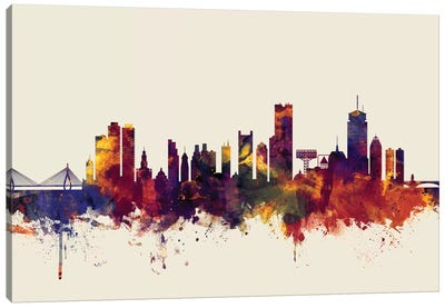 Boston, Massachusetts, USA II On Beige Canvas Art Print