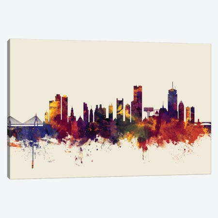 Boston, Massachusetts, USA II On Beige 3-Piece Canvas #MTO212} by Michael Tompsett Canvas Artwork
