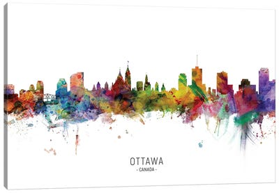 Ottawa Canada Skyline Canvas Art Print
