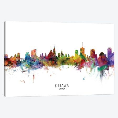 Ottawa Canada Skyline Canvas Print #MTO2130} by Michael Tompsett Canvas Wall Art
