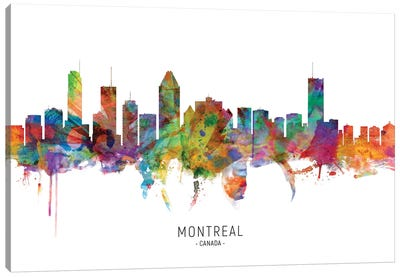 Montreal Canada Skyline Canvas Art Print
