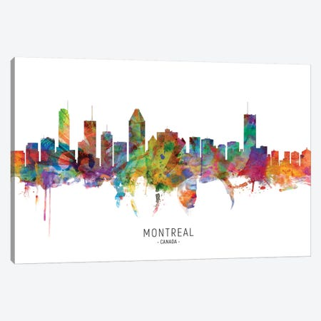 Montreal Canada Skyline Canvas Print #MTO2131} by Michael Tompsett Canvas Art
