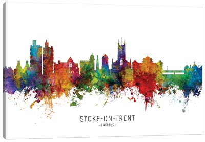 Stoke On Trent England Skyline Canvas Art Print