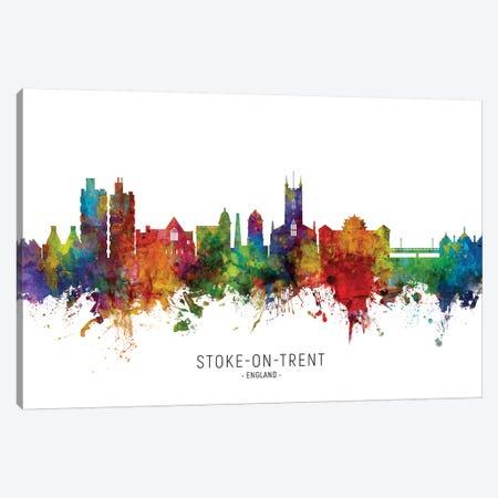 Stoke On Trent England Skyline Canvas Print #MTO2133} by Michael Tompsett Canvas Wall Art
