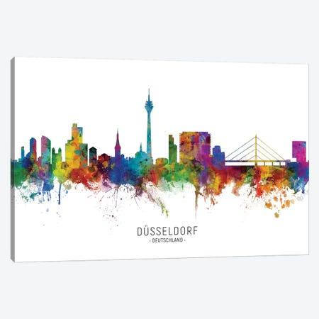 Dusseldorf Deutschland Skyline Canvas Print #MTO2136} by Michael Tompsett Art Print