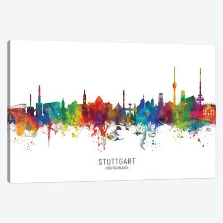 Stuttgart Deutschland Skyline Canvas Print #MTO2137} by Michael Tompsett Art Print