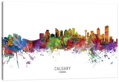Calgary Canada Skyline Canvas Art Print