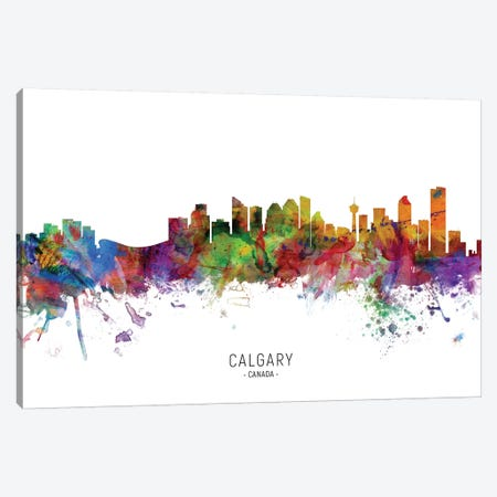Calgary Canada Skyline Canvas Print #MTO2139} by Michael Tompsett Canvas Art