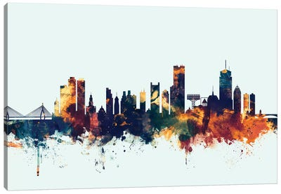 Skyline Series: Boston, Massachusetts, USA II On Blue Canvas Print #MTO213