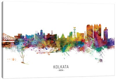 Kolkata India Skyline Canvas Art Print