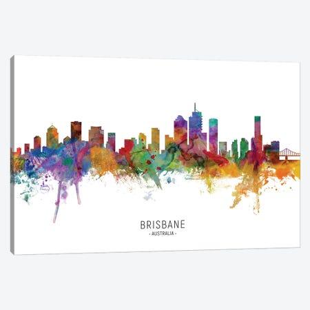 Brisbane Australia Skyline Canvas Print #MTO2141} by Michael Tompsett Canvas Art Print