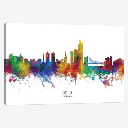 Oslo Norway Skyline Canvas Print #MTO2143} by Michael Tompsett Canvas Print