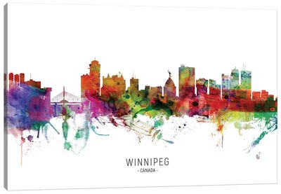 Winnipeg Canada Skyline Canvas Art Print