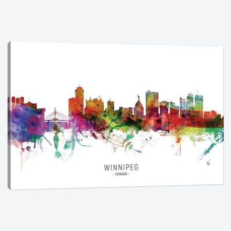 Winnipeg Canada Skyline Canvas Print #MTO2144} by Michael Tompsett Canvas Artwork