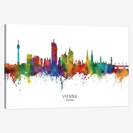 Vienna Austria Skyline Canvas Print #MTO2146} by Michael Tompsett Canvas Art